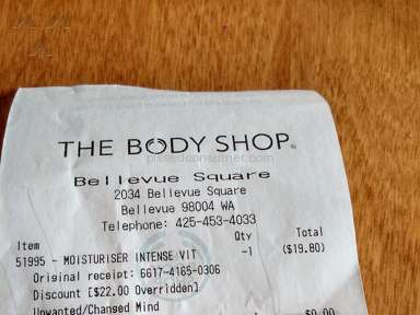 The Body Shop Customer Care review 180040