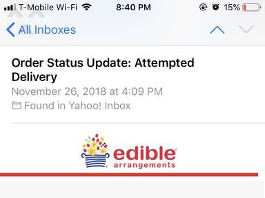 Edible Arrangements - Terrible service