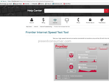 Frontier Communications Fios Internet Service review 264032