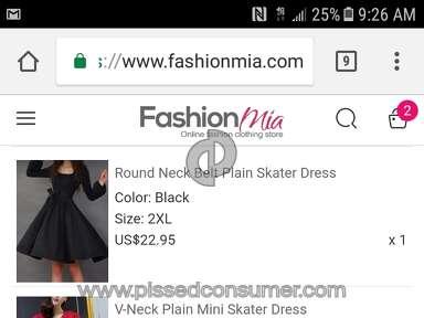 Fashionmia - I feel scammed