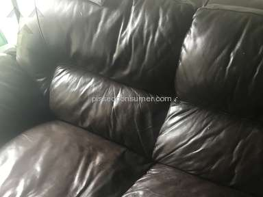 Art Van Furniture - Leather Sofa lost its color