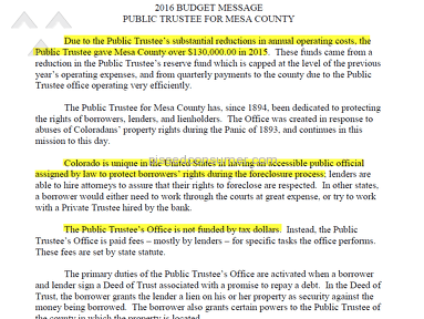 BUSTED! Mesa County Public Trustee, Mike Moran, Makes $120,000 Blunder
