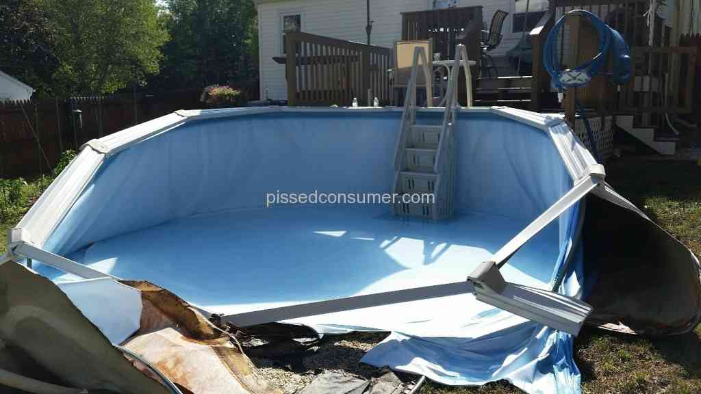 Namco pools 15 ft willow pool collapsed after 5 years for Namco pools
