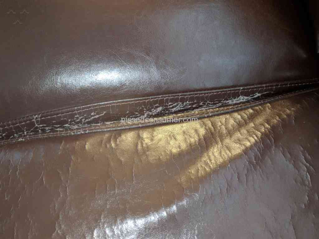 Raymour And Flanigan Inferior Quality Leather Sofa Rips S
