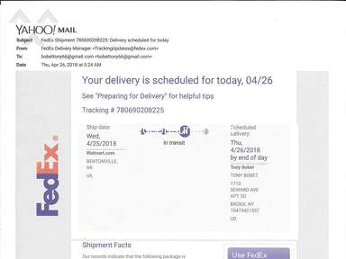 Fedex Delivery Service review 286116