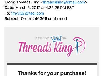 Threads King - Shipping Service Review
