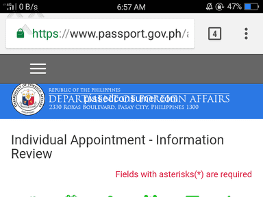 Dfa Passport Appointment System - I dont have an appointment code.