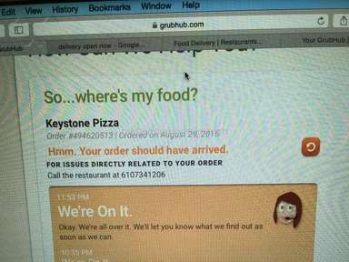 Grubhub Website review 85663