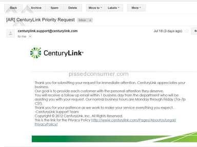 CenturyLink Customer Care review 148220