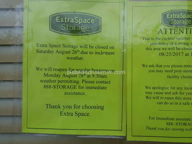 Extra Space Storage - Not allowing customers Gate access:
