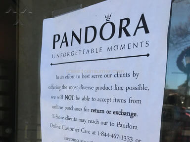 Pandora Jewelry - Conflicting Policies