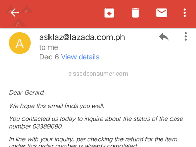 Lazada Philippines - Lazada never retUrn my reFund