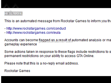 Rockstar Games - GTA 5 PC Ban