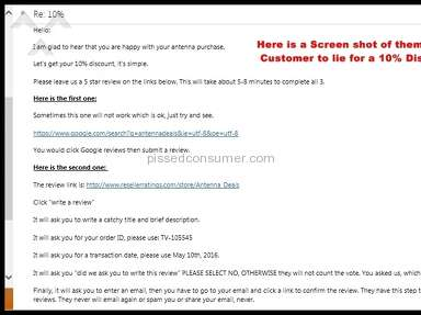 Antennadeals Customer Care review 137343
