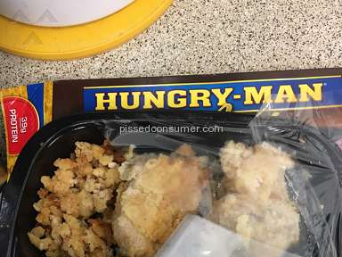 Hungry Man Frozen Dinners - A pile of crusty crumbs??