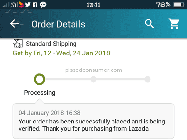 Lazada Malaysia - Still waiting to return the product