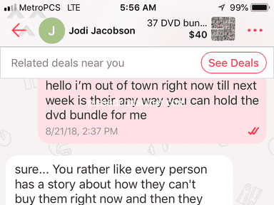 I am being threatened by another person on letgo