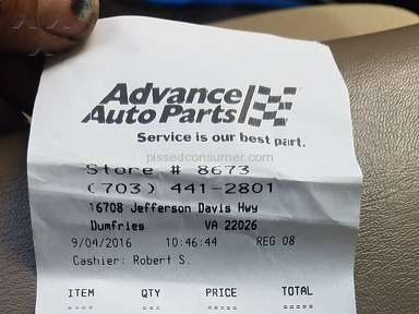 Advance Auto Parts Cashier review 159394