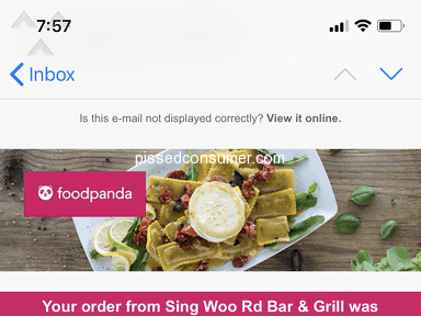 Foodpanda Hong Kong Customer Care review 288664