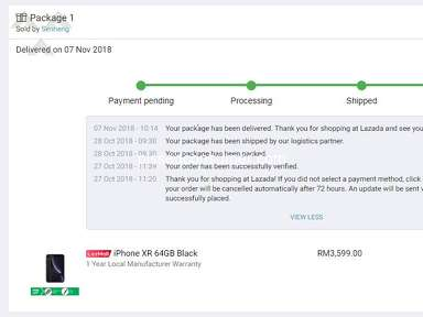 Lazada Malaysia - Not received anything but order status delivered