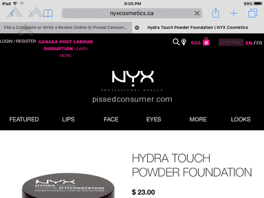 Nyx Cosmetics Customer Care review 158896