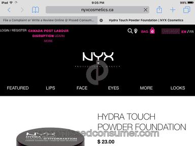 Nyx Cosmetics - Bad customer service