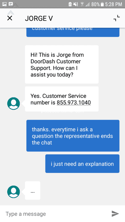 doordash customer care