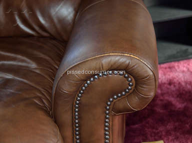 Slumberland Furniture - Italian Leather couch and chair set Kensington Collection