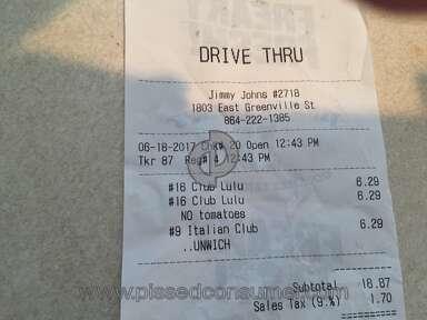 Jimmy Johns Italian Night Club Sandwich review 214144