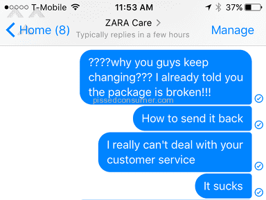 Zara Customer Care review 186946
