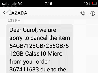 Lazada Philippines - Neglected refund