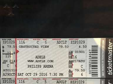 Event Tickets Center - Adele Concert Ticket Review