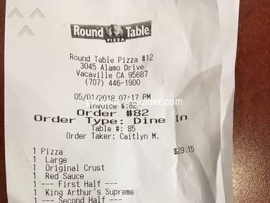 Round Table Pizza - Poor customer service