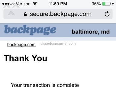 Backpage - Advertisement Review