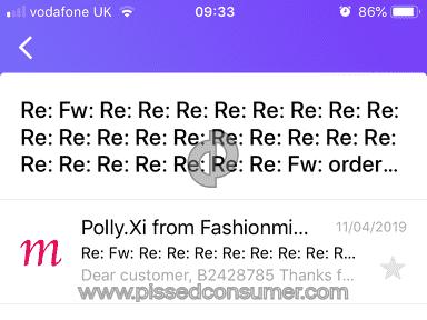 Fashionmia Shipping Service review 387250