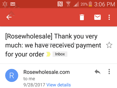 Rosewholesale - ITEMS NEVER RECEIVED