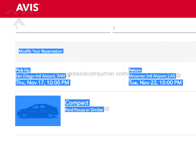 Avis Car Rental review 172976