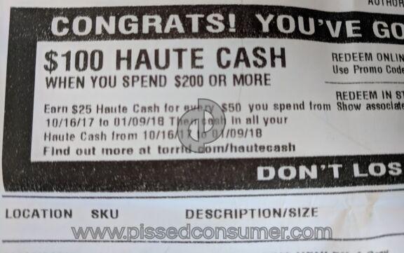 Torrid 100-Dollar Off Coupon