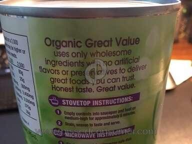 Walmart Great Value Organic Peas review 207390