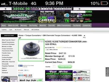 Monster Transmission Auto Parts and Accessories review 83285