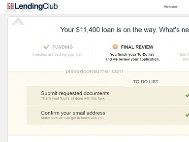 Lending Club - Slow confusing process with absolutely no communication