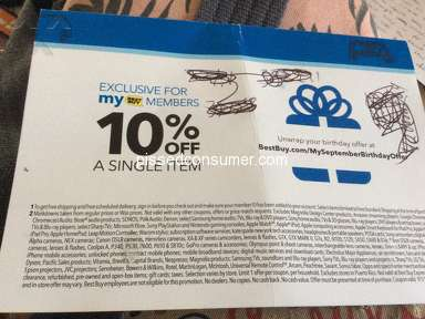 Best Buy - Birthday coupon