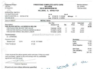Firestone Complete Auto Care Car Repair review 148862