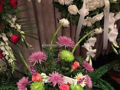 Flowershopping - Ordered flowers for funeral but got scammed