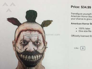 Party City - Bait and Switch on a Twisty Mask pictured online vs. what I actually received!