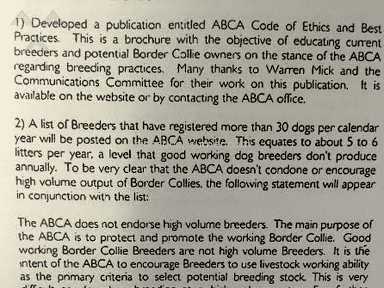American Border Collie Association Animal Services review 153250