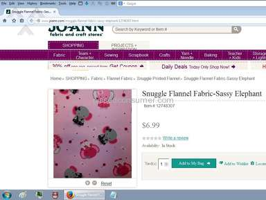 Joann Fabric Shipping Service review 49779