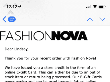 Fashion Nova - Received wrong items.