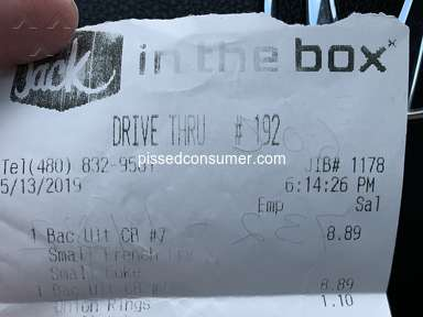 Jack In The Box - I was treated extremely rude and the they kept my money