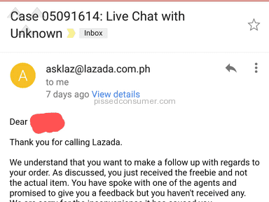 Lazada Philippines - MONEY'S GONE!!! I'VE NEVER RECEIVED THE ACTUAL ITEM!!!